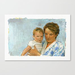 mother and child 2 Canvas Print