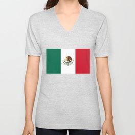 Mexican national flag Unisex V-Neck