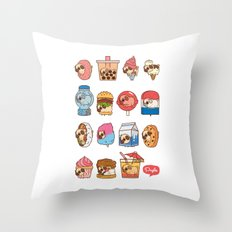 Puglie Food Collection 3 Throw Pillow