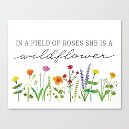 She is a Wildflower Canvas Print