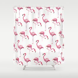 Flo the Flamingo Shower Curtain