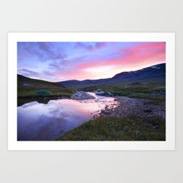 Sunset at Kungsleden Art Print
