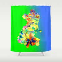 dublin Shower Curtains featuring Dublin Water by Kramcox