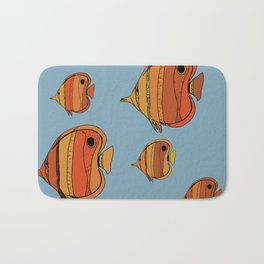 Orange Butterfly Fish Bath Mat