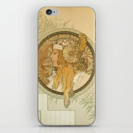 "Alphonse Mucha ""Byzantine Head: The Blonde"" iPhone Skin"