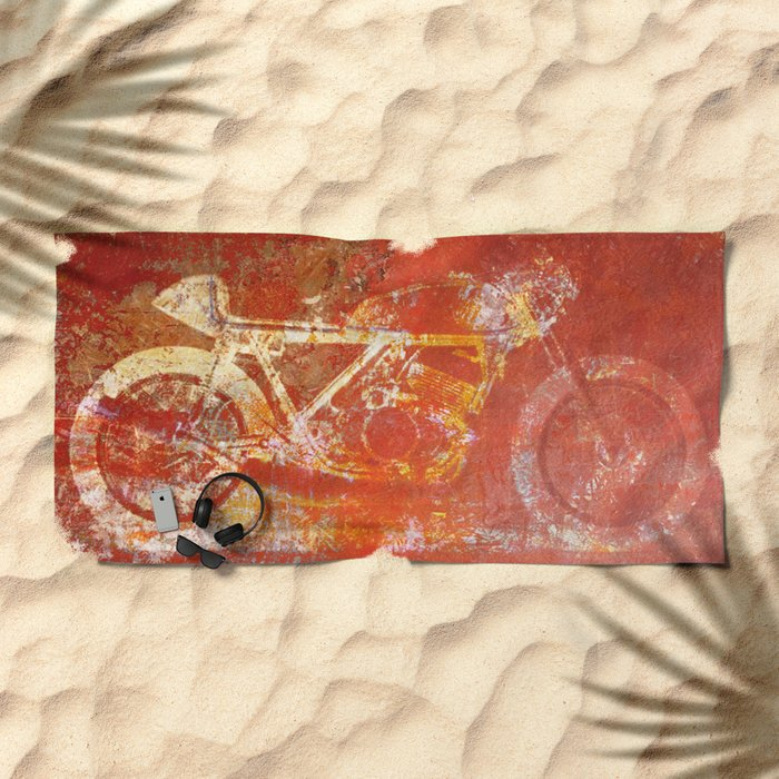 Metal Speed Beach Towel