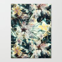 hibiscus Canvas Prints featuring Hibiscus by RIZA PEKER