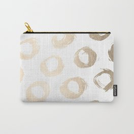 Luxe Gold City Dot Circles Carry-All Pouch