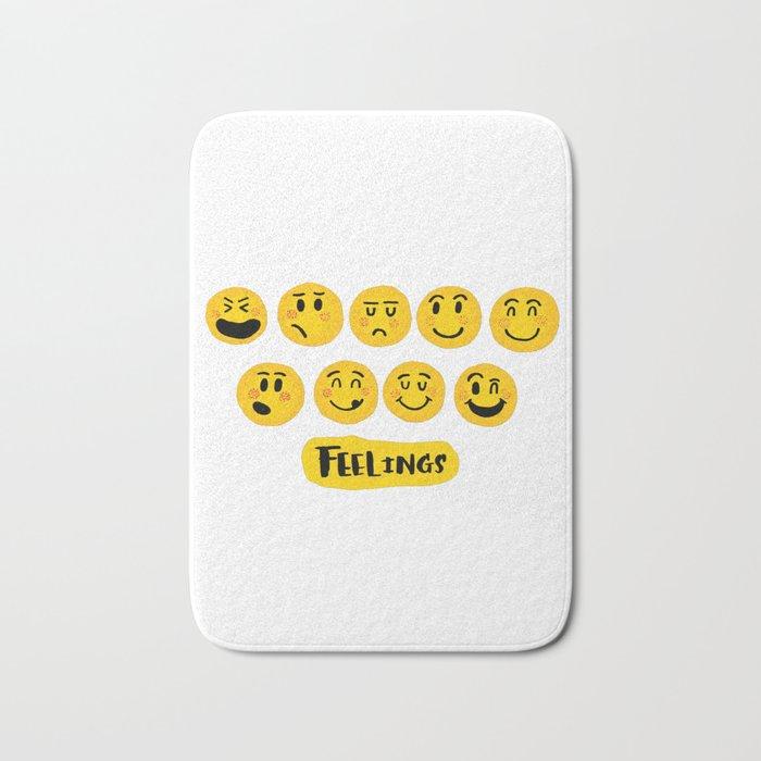 Emoji Feelings Bath Mat By Malgharbawi