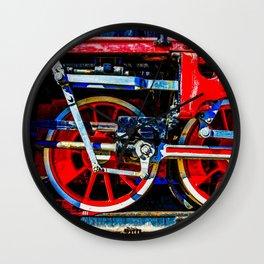 Piston Rod Driving Gear Of A Vintage Steam Locomotive Wall Clock