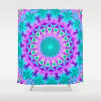kaleidoscope Shower Curtains featuring Kaleidoscope by Sylvia Cook Photography