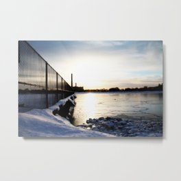 Frozen Cove Metal Print