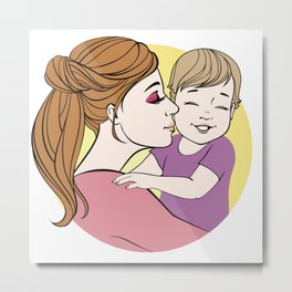 We Love Moms Metal Print