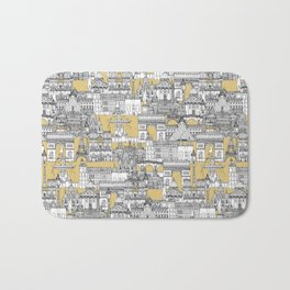 Paris toile gold Bath Mat
