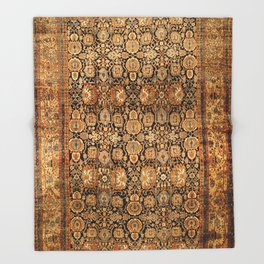Antique Persian Malayer Rug Throw Blanket
