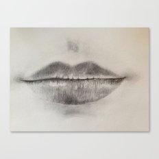 Lips Sketch Canvas Print