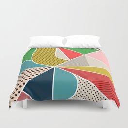 color segments 002 Duvet Cover