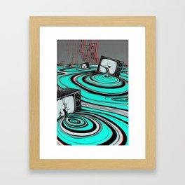 Lake of Static Framed Art Print