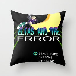 "Elias and the Error ""Title Screen"" Throw Pillow"