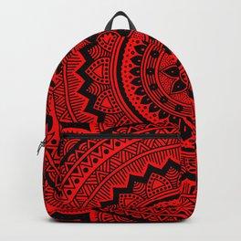 Red Mandala Backpack