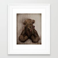 ferret Framed Art Prints featuring Ferret by Cathie Tranent