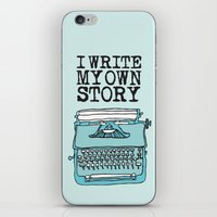 write iPhone & iPod Skins featuring I Write  by Kendra Amy Allen