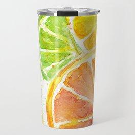 Fruit Watercolor Citrus Travel Mug