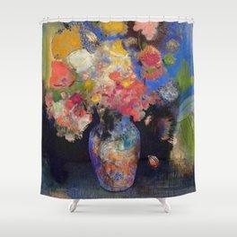 "Odilon Redon ""Vase de Marie Botkin"" Shower Curtain"