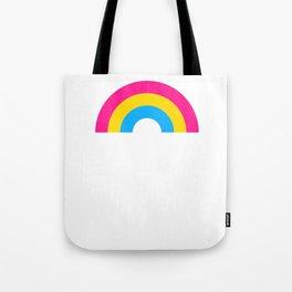Pansexual Rainbow print LGBTQ Pride Gift Idea Tote Bag