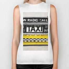 Yellow cab of New York sketch, on radio call, off duty Biker Tank