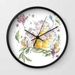 Hydra de Flora Wall Clock