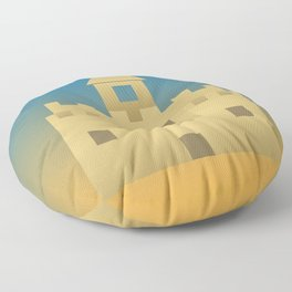 Sand Castle Sunshine Floor Pillow