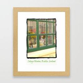 Cottage Window, Dublin, Ireland Framed Art Print