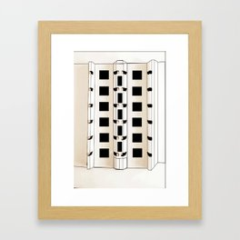 Building Model Framed Art Print