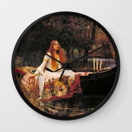The Lady of Shalott by John William Waterhouse (1888) Wall Clock