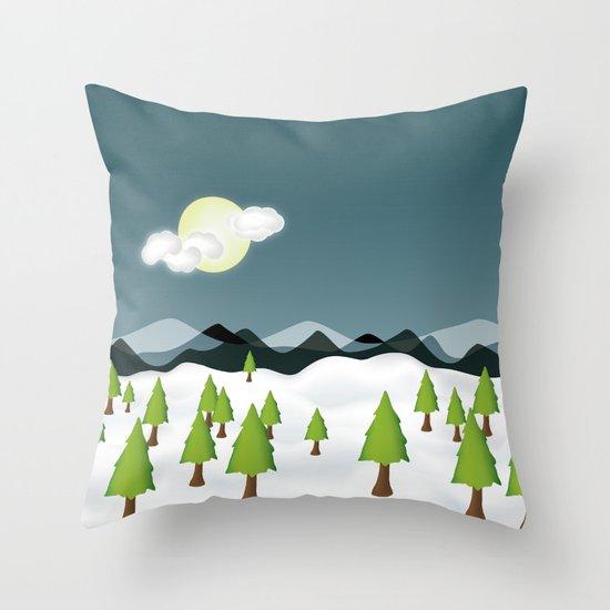 Midnight Isolation Throw Pillow
