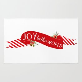 Joy to the World Banner Rug