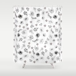 floral flash Shower Curtain