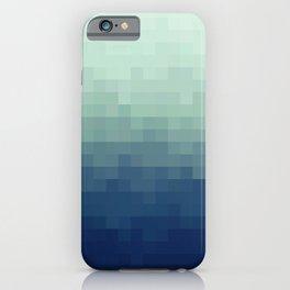 Gradient Pixel Aqua iPhone Case
