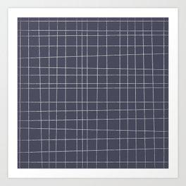 Charcoal Grid Art Print