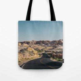 Windy Desert Road Tote Bag