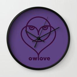 Owl Love / Ow! Love Wall Clock