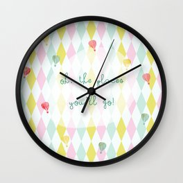 Oh, the places you'll go Wall Clock