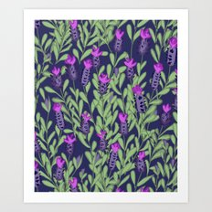 April blooms(Lavender_blue) Art Print