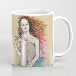 Woman and Carnations Coffee Mug