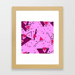 Pink Error Framed Art Print