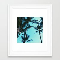 palm trees Framed Art Prints featuring Palm Trees by Alexandra Str