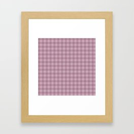Pink gray simple plaid patterns . Framed Art Print