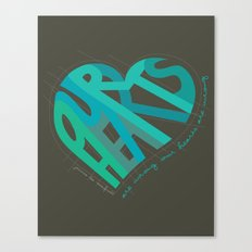 Our Hearts Are Wrong Canvas Print