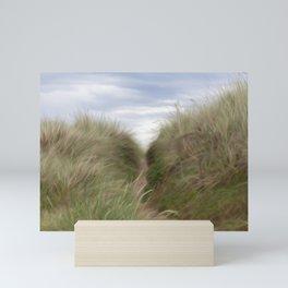 sand beach dunes pathway Mini Art Print